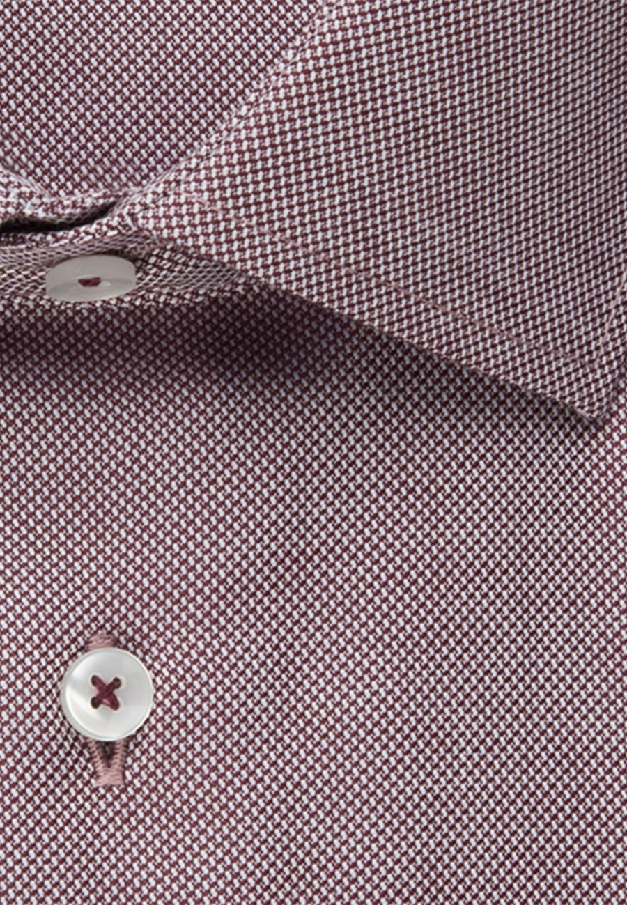 Non-iron Struktur Business Shirt in Shaped with Kent-Collar in Red |  Seidensticker Onlineshop