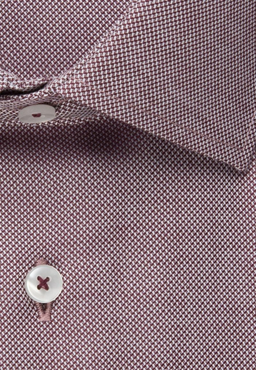 Bügelfreies Struktur Business Hemd in Shaped mit Kentkragen in Rot    Seidensticker Onlineshop