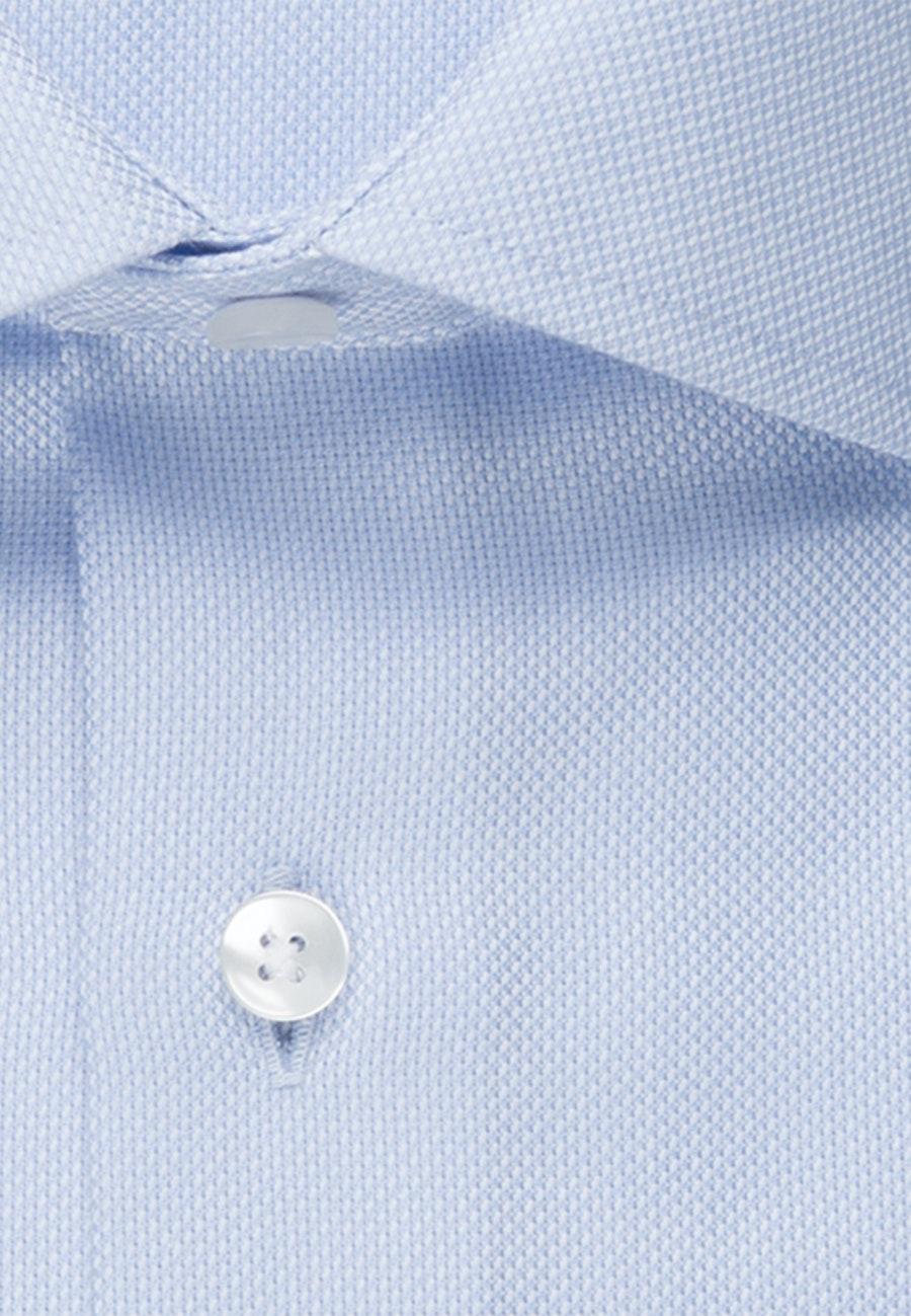 Bügelfreies Struktur Business Hemd in Shaped mit Kentkragen in Hellblau |  Seidensticker Onlineshop