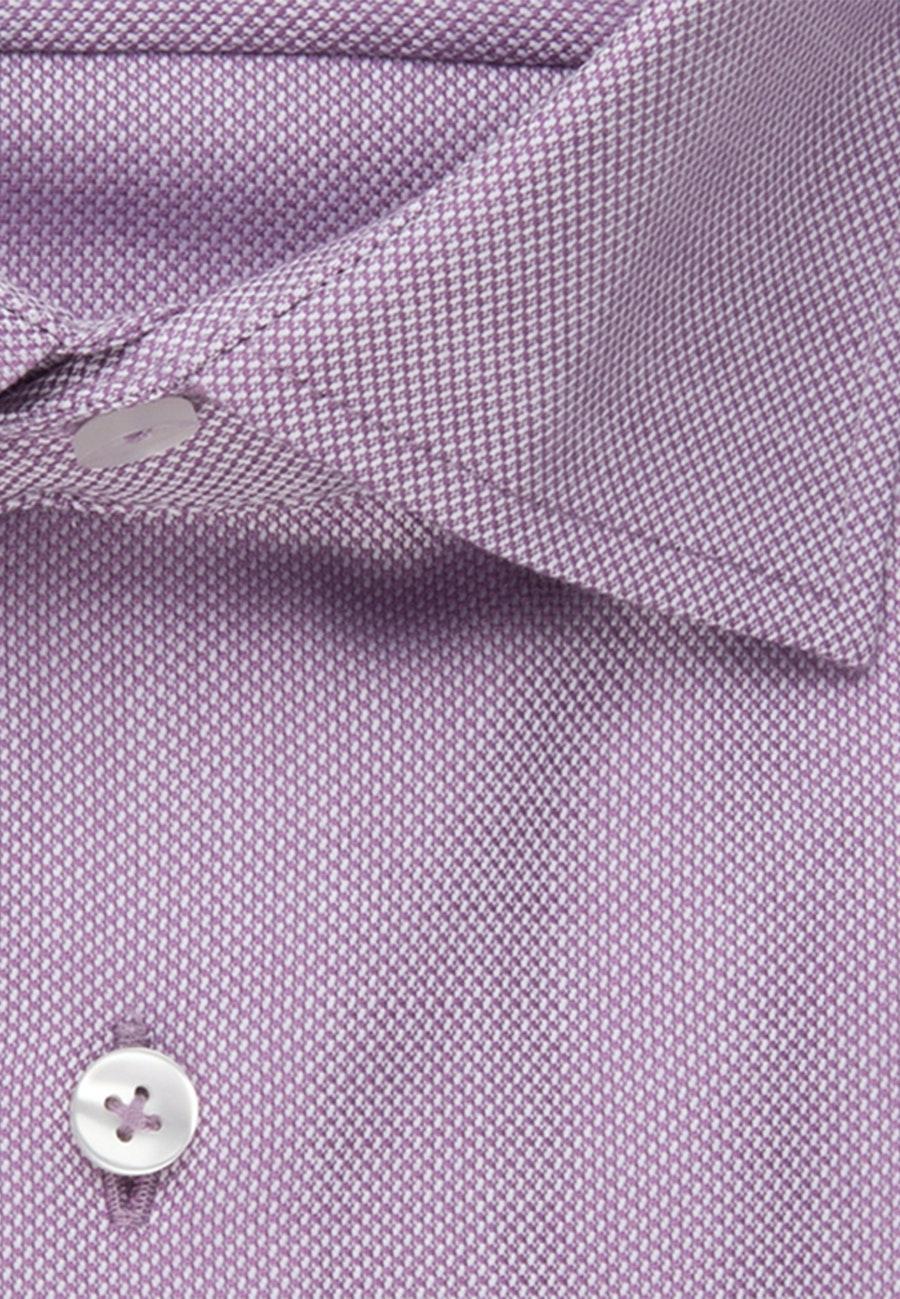 Bügelfreies Struktur Business Hemd in Shaped mit Kentkragen in Lila |  Seidensticker Onlineshop
