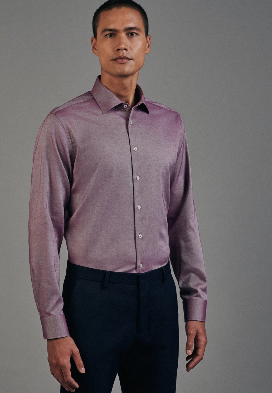 Non-iron Structure Business Shirt in Shaped with Kent-Collar in Pink |  Seidensticker Onlineshop