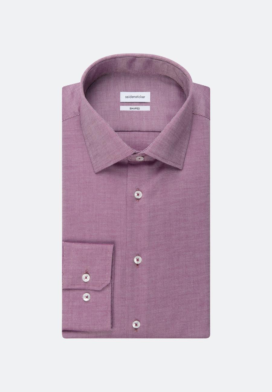 Non-iron Struktur Business Shirt in Shaped with Kent-Collar in Pink |  Seidensticker Onlineshop