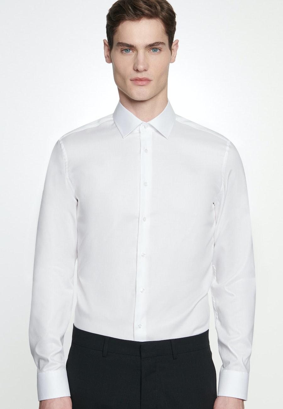 Non-iron Struktur Business Shirt in Shaped with Kent-Collar in White |  Seidensticker Onlineshop