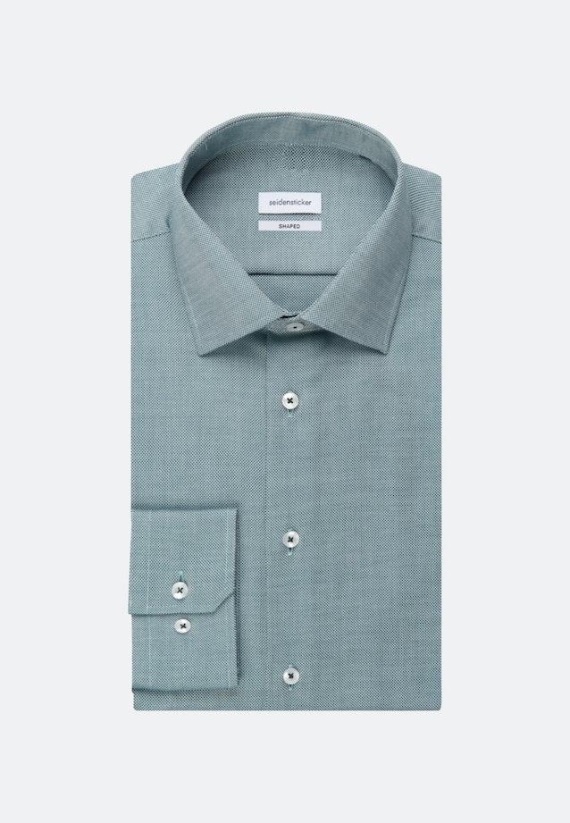 Non-iron Struktur Business Shirt in Shaped with Kent-Collar in Green |  Seidensticker Onlineshop