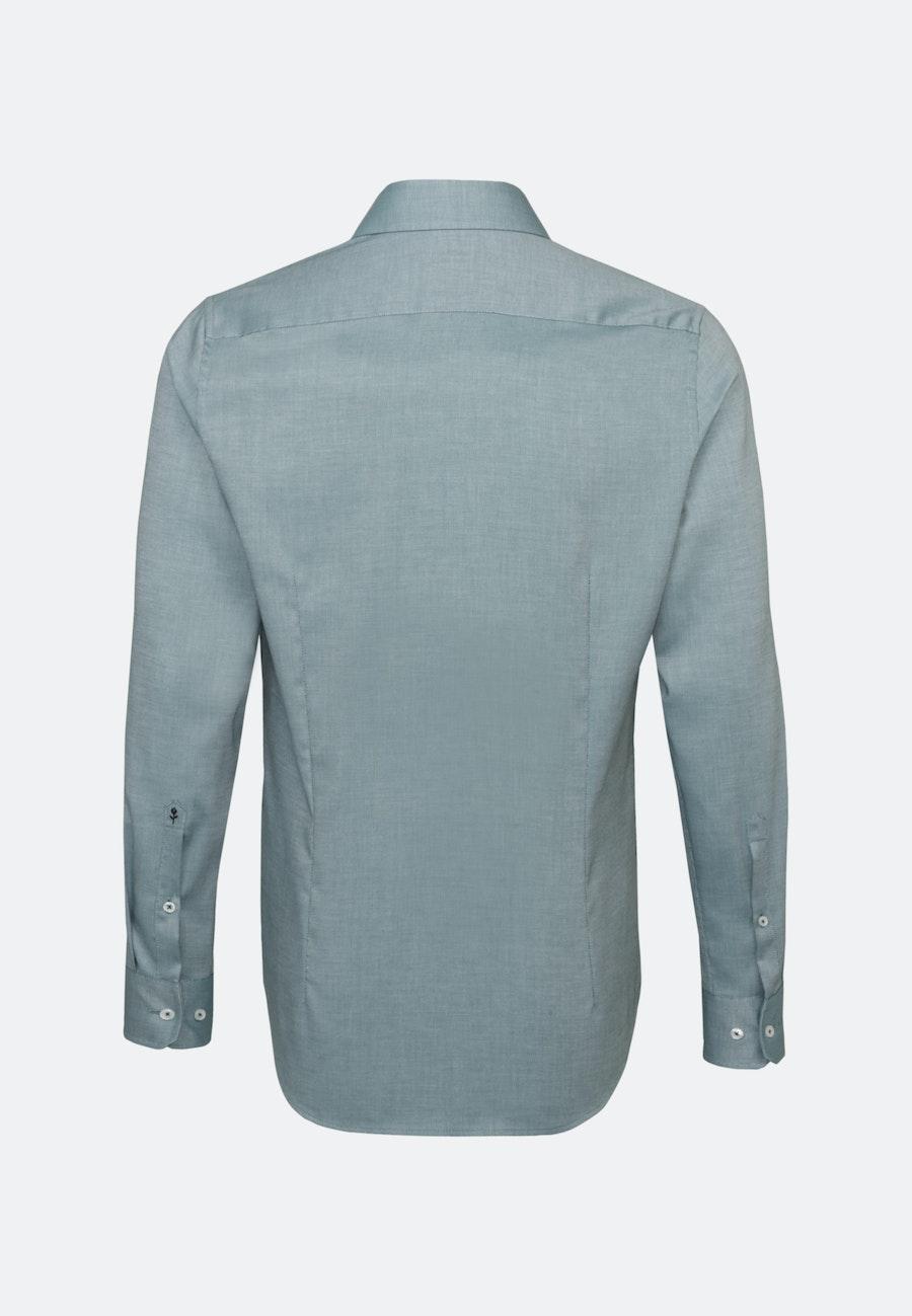 Non-iron Struktur Business Shirt in Shaped with Kent-Collar in Green    Seidensticker Onlineshop