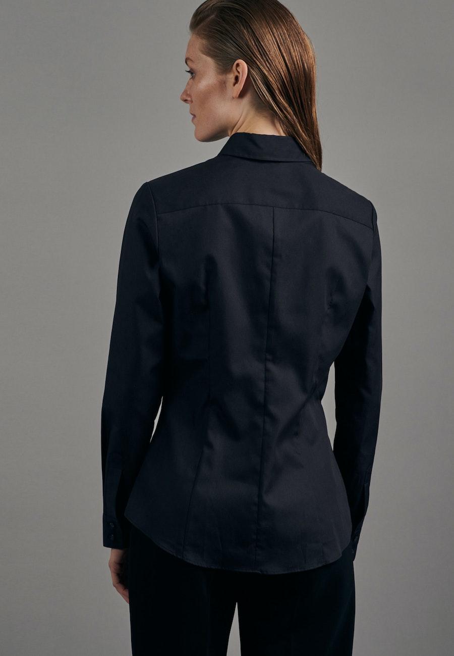Bügelfreie Fil a fil Hemdbluse aus 100% Baumwolle in Schwarz    Seidensticker Onlineshop