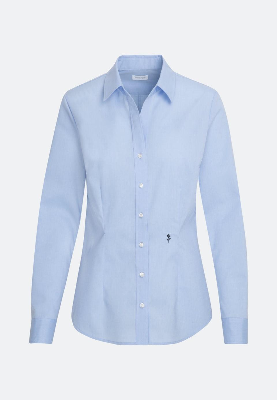 Bügelfreie Fil a fil Hemdbluse aus 100% Baumwolle in Hellblau |  Seidensticker Onlineshop