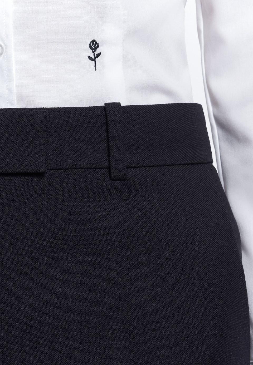 Non-iron Fil a fil Shirt Blouse made of 100% Cotton in White |  Seidensticker Onlineshop