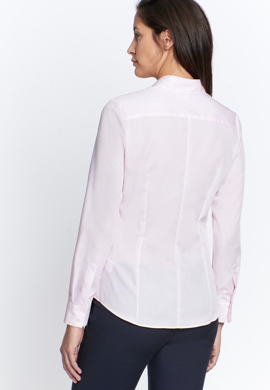Non-iron Fil a fil Shirt Blouse made of 100% Cotton in Pink    Seidensticker Onlineshop