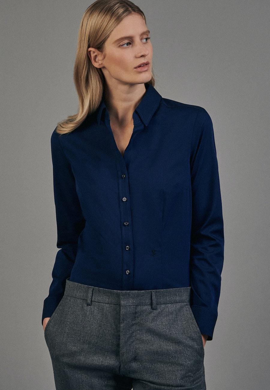 Non-iron Fil a fil Shirt Blouse made of 100% Cotton in Dunkelblau |  Seidensticker Onlineshop
