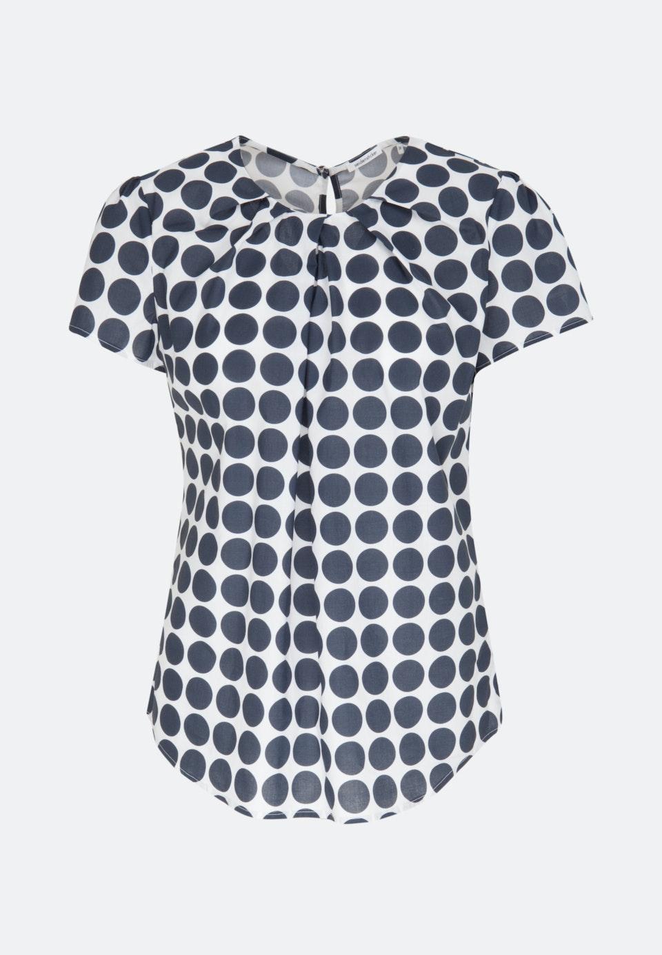 Kurzarm Voile Shirtbluse aus 100% Baumwolle in Weiß |  Seidensticker Onlineshop