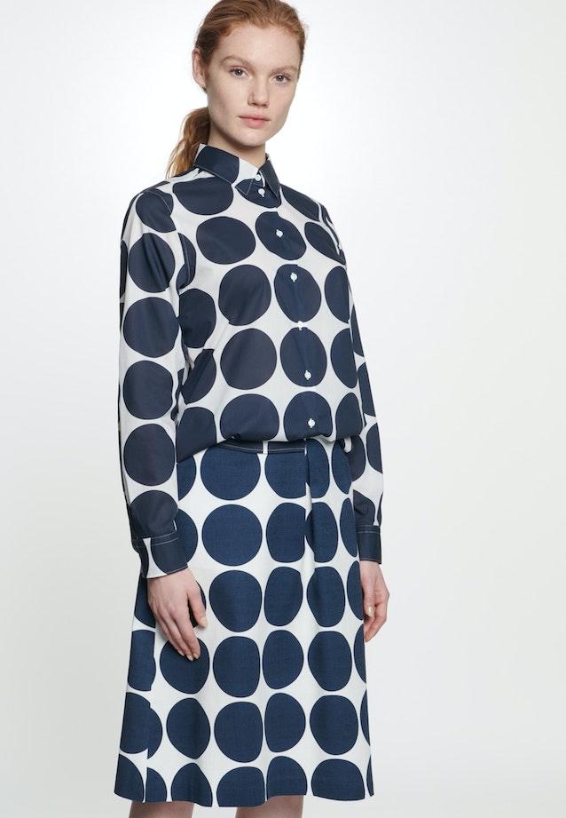 Popeline Midi Skirt made of cotton blend in Dark blue |  Seidensticker Onlineshop