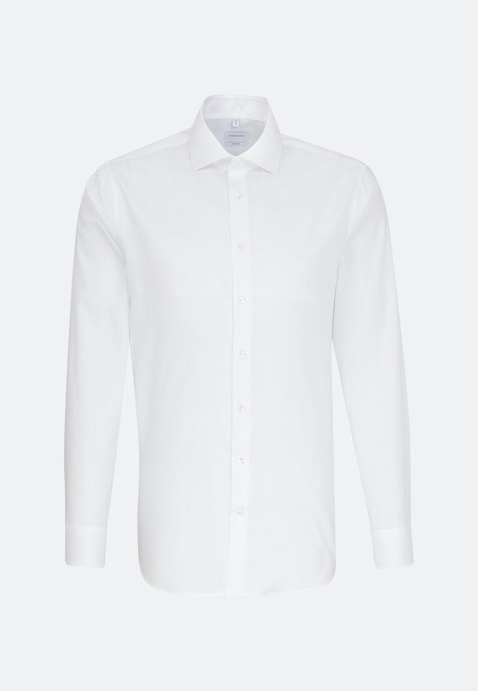 Bügelfreies Oxford Business Hemd in Shaped mit Kentkragen in Weiß    Seidensticker Onlineshop