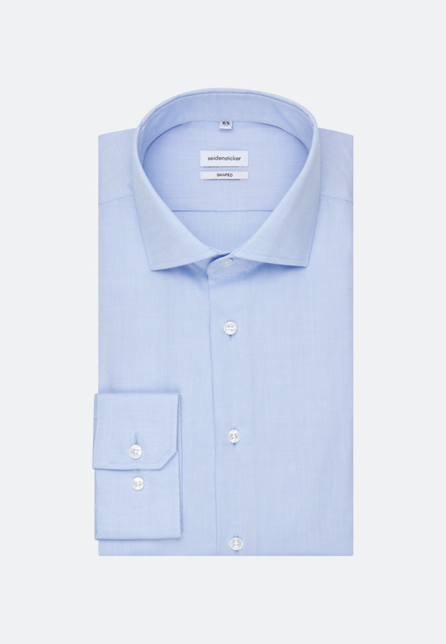 Non-iron Oxford shirt in Shaped with Kent-Collar in Light blue |  Seidensticker Onlineshop