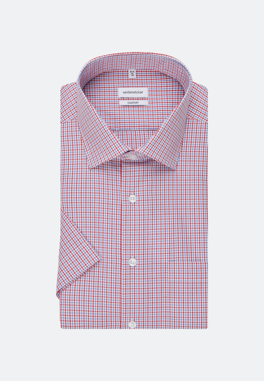 Non-iron Popeline Short sleeve Business Shirt in Comfort with Kent-Collar in Red |  Seidensticker Onlineshop