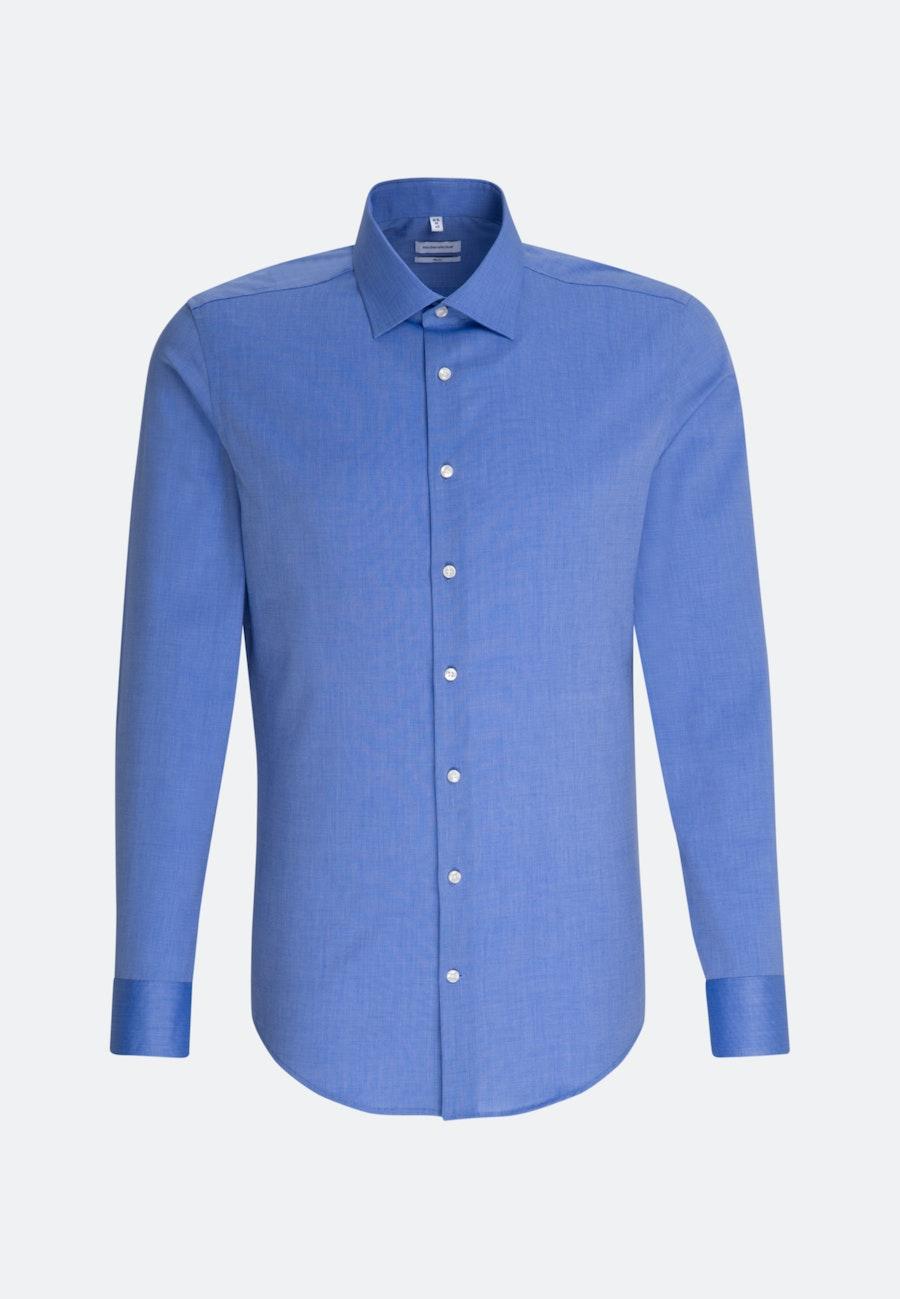 Non-iron Fil a fil Business Shirt in Slim with Kent-Collar in Medium blue |  Seidensticker Onlineshop