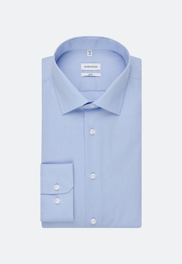 Non-iron Fil a fil Business Shirt in Slim with Kent-Collar in Light blue    Seidensticker Onlineshop