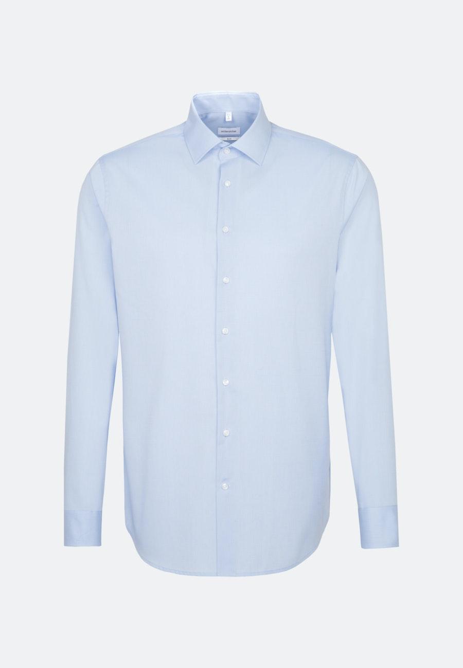 Bügelfreies Fil a fil Business Hemd in Slim mit Kentkragen in Hellblau |  Seidensticker Onlineshop