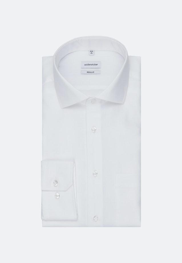 Bügelfreies Oxford Business Hemd in Regular mit Kentkragen in Weiß |  Seidensticker Onlineshop