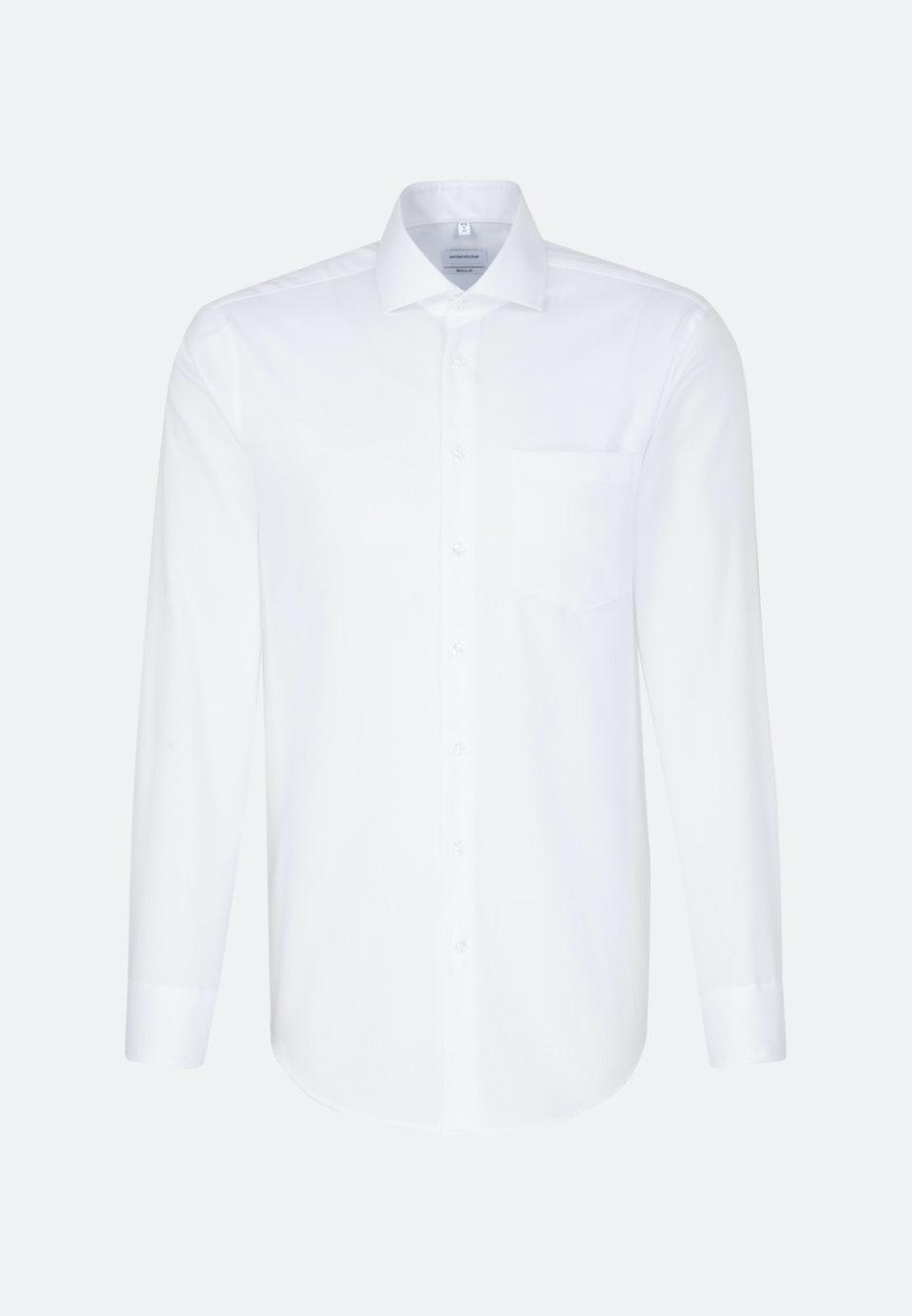 Oxfordhemd Uni in Weiß    Seidensticker Onlineshop