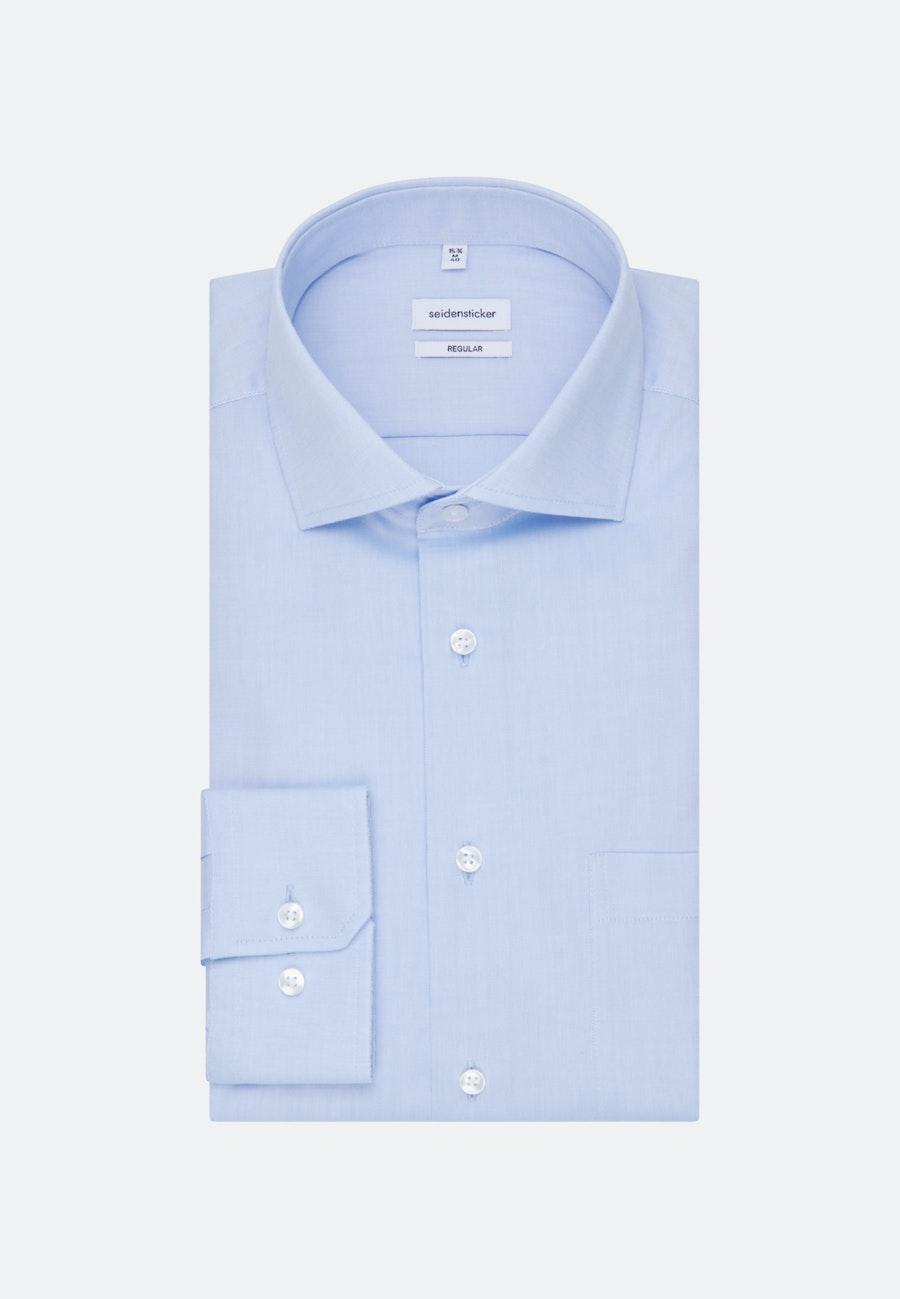 Bügelfreies Oxfordhemd in Regular mit Kentkragen in Hellblau |  Seidensticker Onlineshop