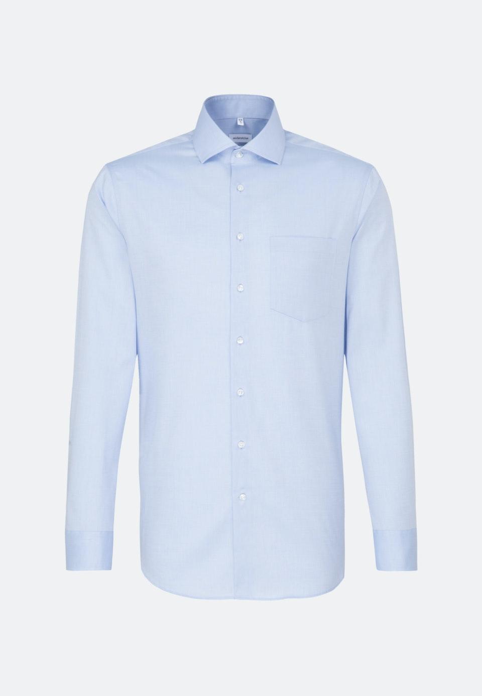 Bügelfreies Oxford Business Hemd in Regular mit Kentkragen in Hellblau    Seidensticker Onlineshop