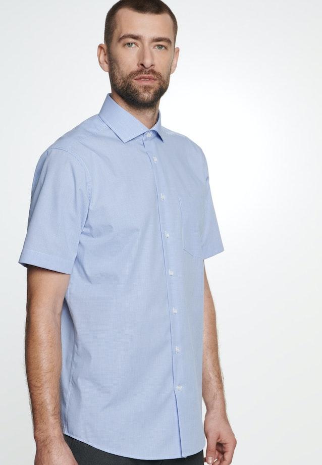 Non-iron Poplin Short sleeve Business Shirt in Regular with Kent-Collar in Light blue |  Seidensticker Onlineshop