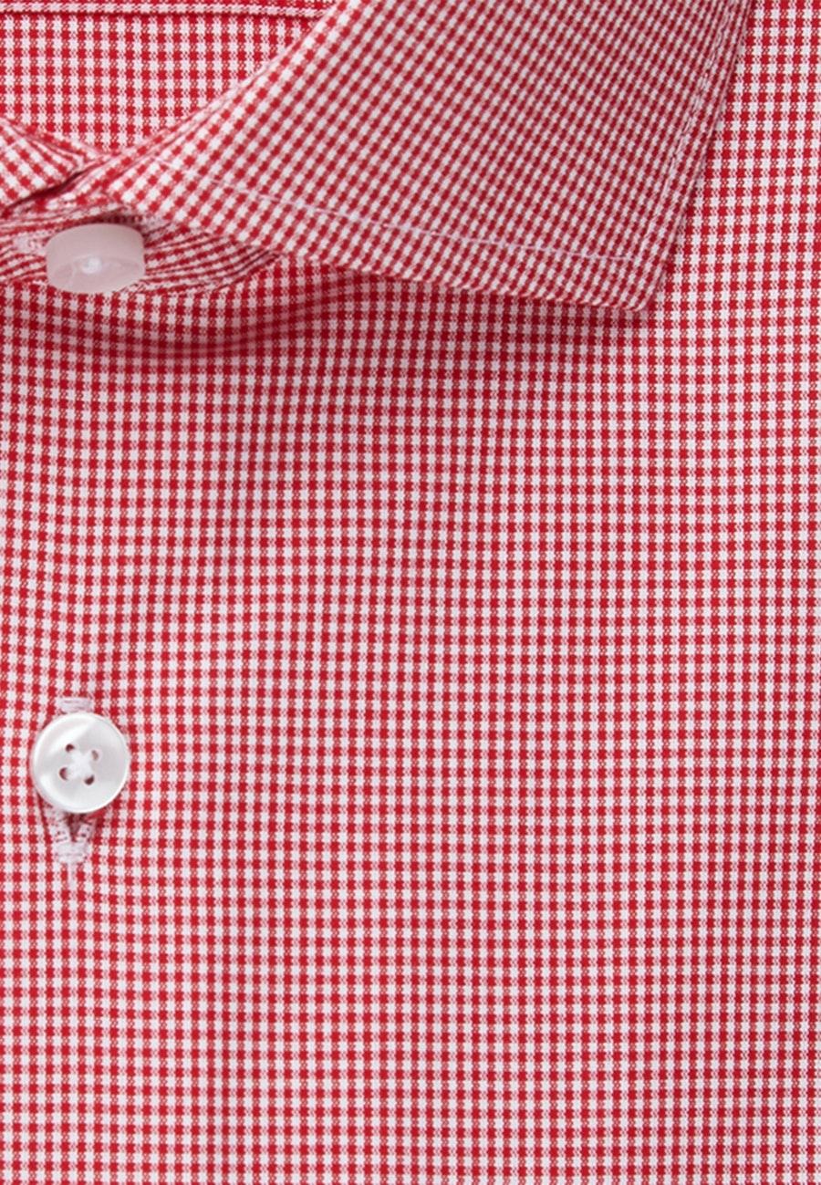 Non-iron Popeline Short sleeve Business Shirt in Regular with Kent-Collar in Red |  Seidensticker Onlineshop