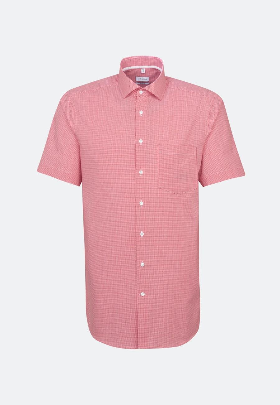 Non-iron Poplin Short sleeve Business Shirt in Regular with Kent-Collar in Red |  Seidensticker Onlineshop