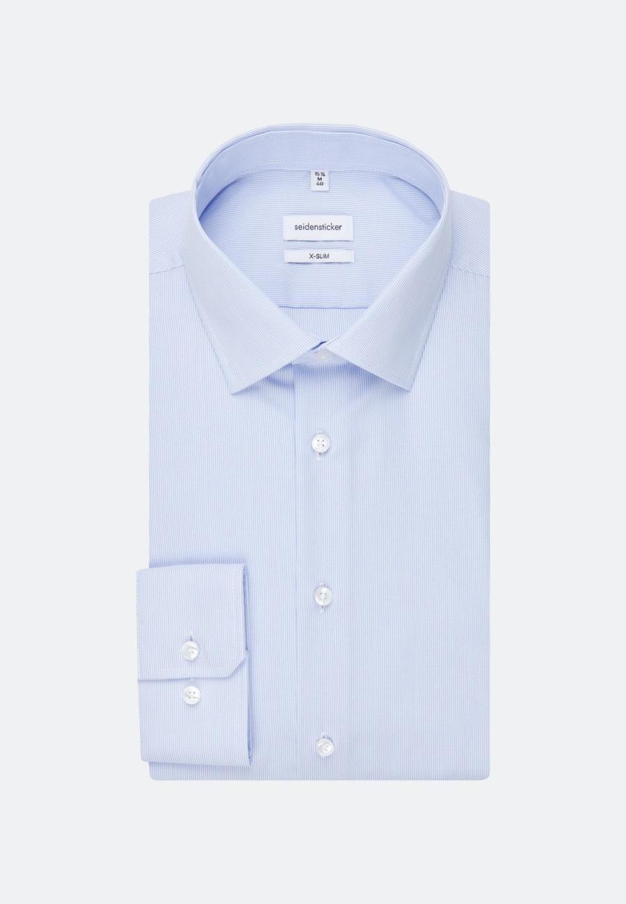 Non-iron Popeline Business Shirt in X-Slim with Kent-Collar in Light blue |  Seidensticker Onlineshop