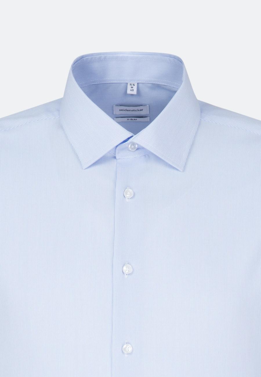 Non-iron Poplin Business Shirt in X-Slim with Kent-Collar in Light blue |  Seidensticker Onlineshop