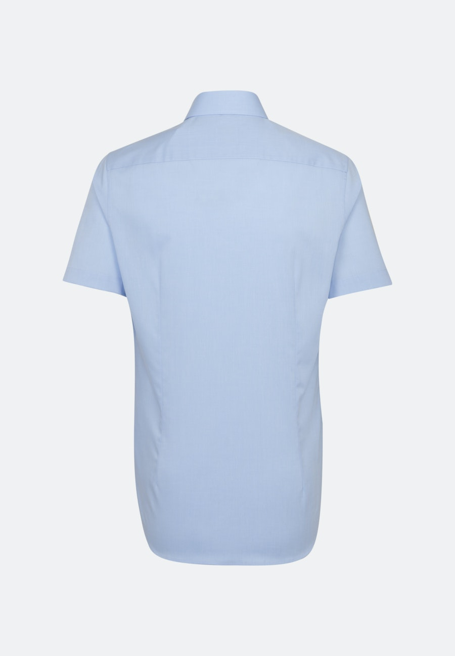 Non-iron Fil a fil Short sleeve Business Shirt in Slim with Kent-Collar in Light blue |  Seidensticker Onlineshop