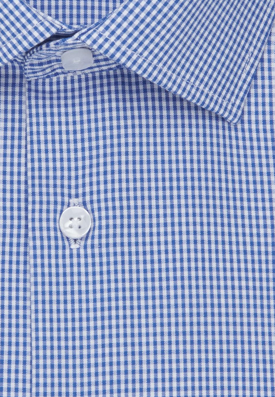 Non-iron Popeline Business Shirt in Slim with Kent-Collar in Medium blue |  Seidensticker Onlineshop