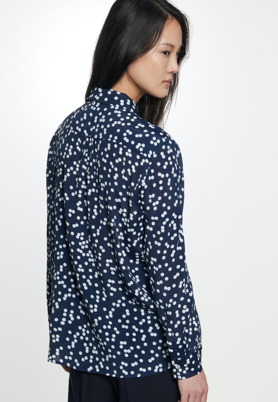Crepe Shirt Blouse made of 100% Viscose in Dark blue    Seidensticker Onlineshop