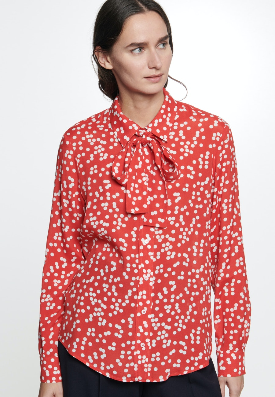 Crepe Shirt Blouse made of 100% Viscose in Red |  Seidensticker Onlineshop
