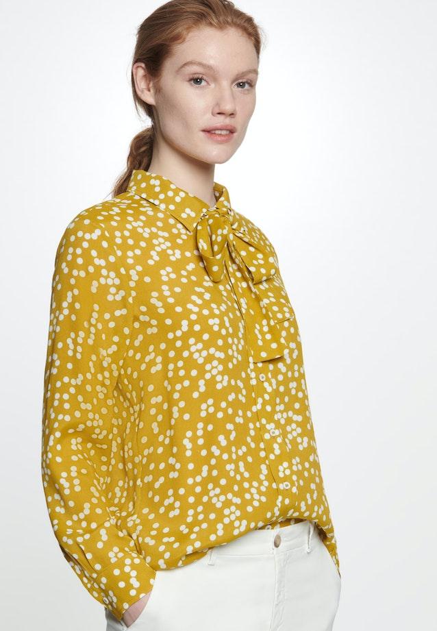 Krepp Hemdbluse aus 100% Viskose in Gelb    Seidensticker Onlineshop