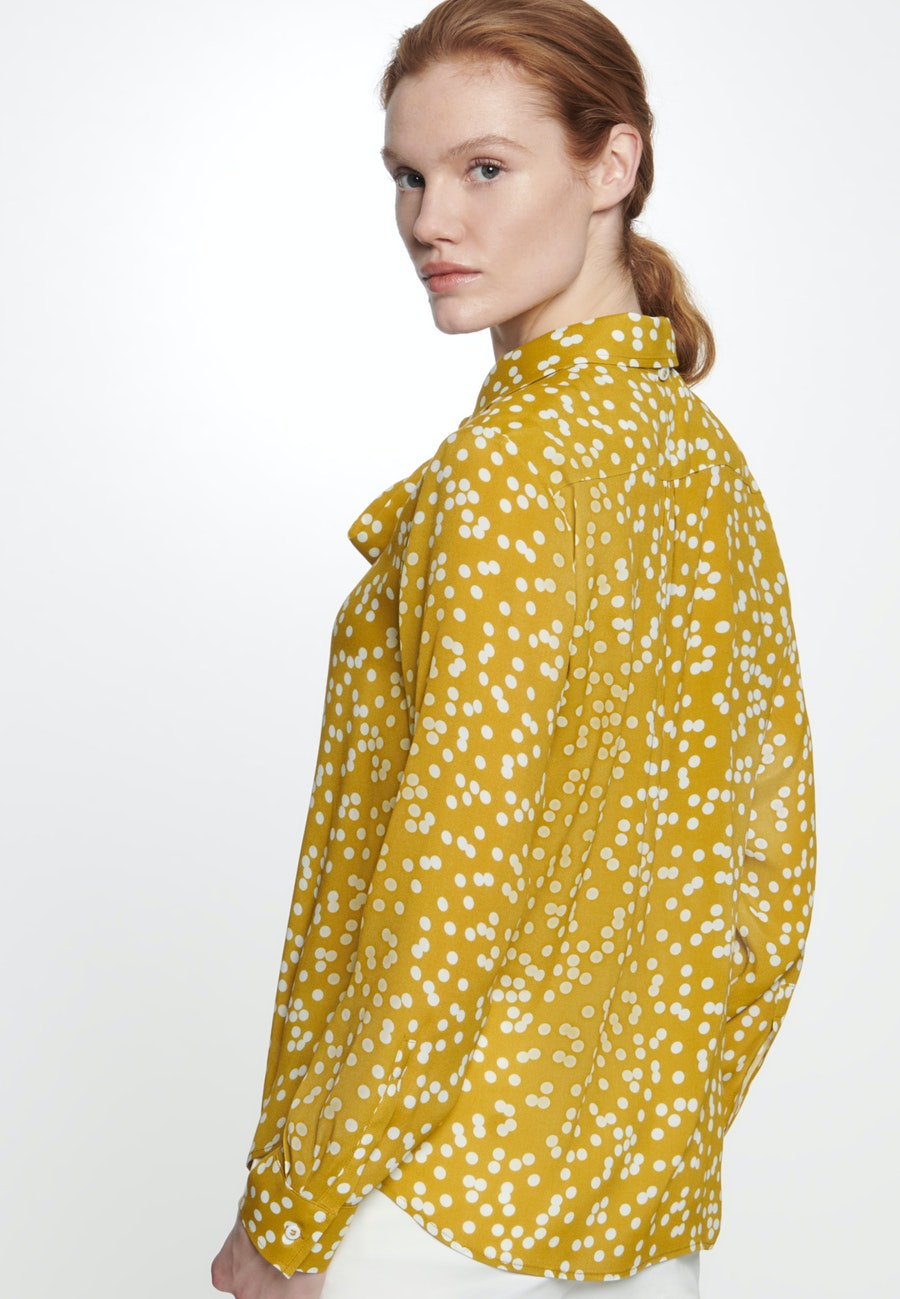 Crepe Shirt Blouse made of 100% Viscose in Yellow |  Seidensticker Onlineshop