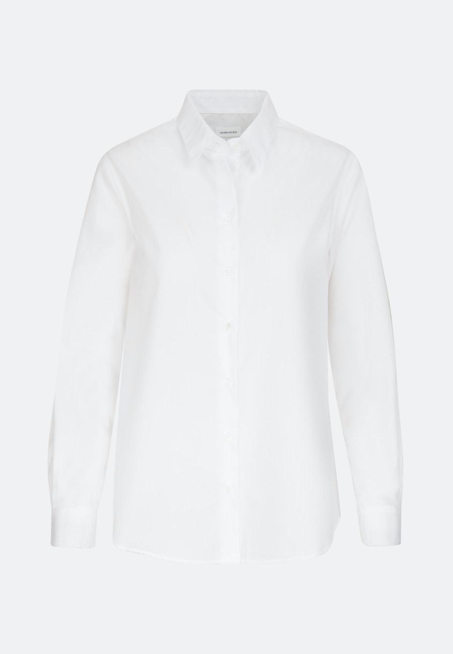 Popeline Hemdbluse aus 100% Baumwolle in Weiß |  Seidensticker Onlineshop