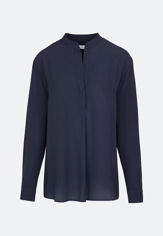 Twill Slip Over Blouse made of 100% Viscose in Dark blue |  Seidensticker Onlineshop