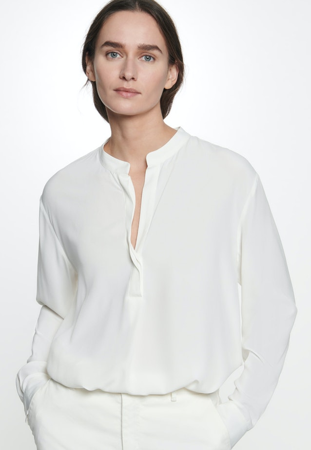 Twill Slip Over Blouse made of 100% Viscose in Ecru |  Seidensticker Onlineshop