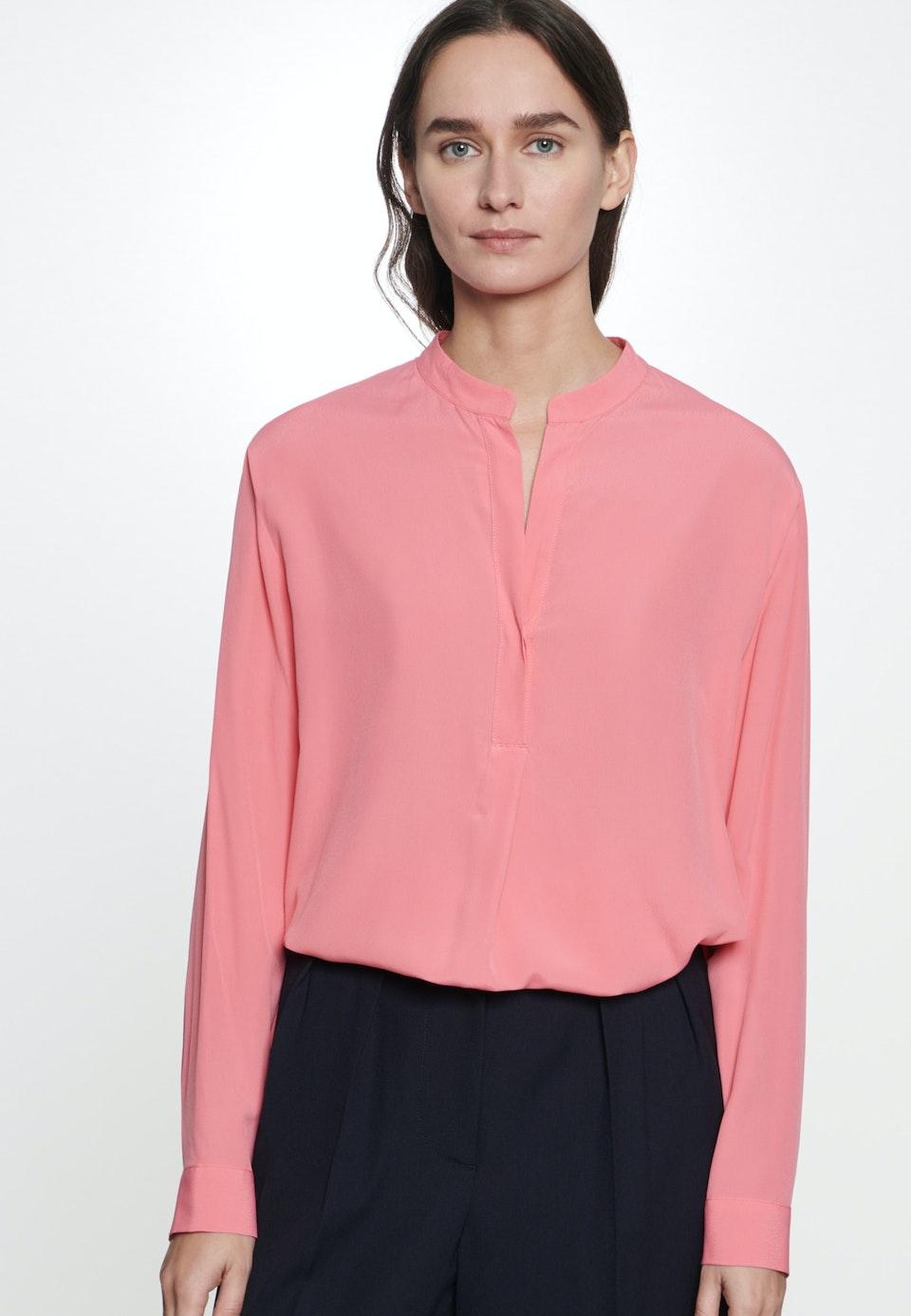 Twill Slip Over Blouse made of 100% Viscose in Pink |  Seidensticker Onlineshop