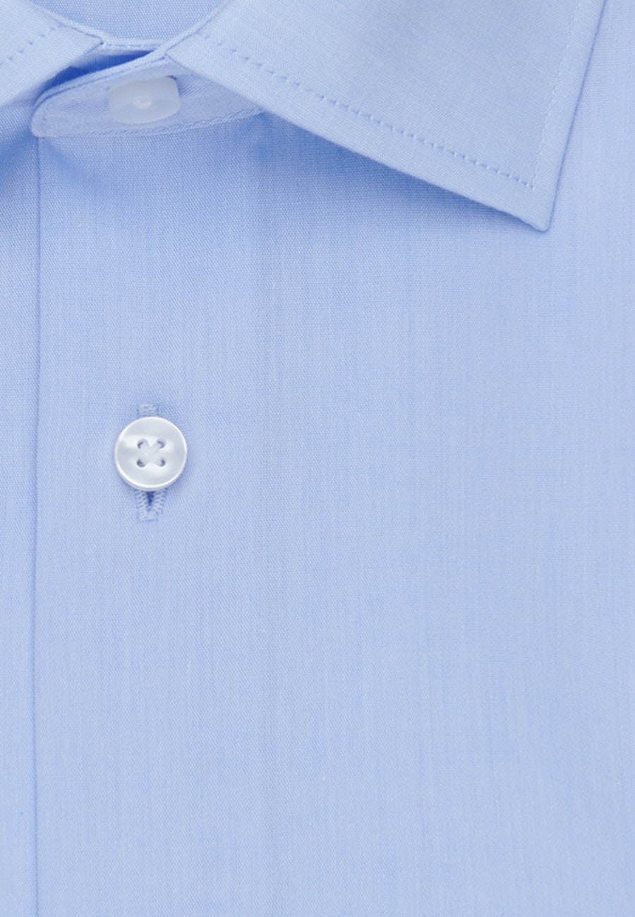 Bügelfreies Chambray Business Hemd in Slim mit Kentkragen in Hellblau    Seidensticker Onlineshop