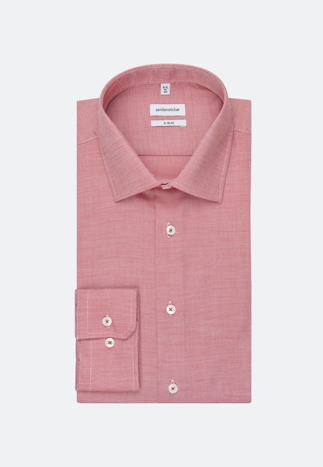 Non-iron Structure Business Shirt in X-Slim with Kent-Collar in Red |  Seidensticker Onlineshop