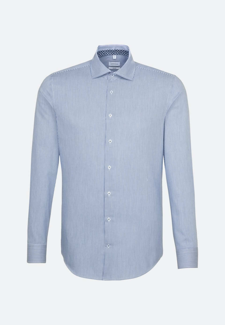 Easy-iron Twill Business Shirt in Shaped with Kent-Collar in Medium blue    Seidensticker Onlineshop