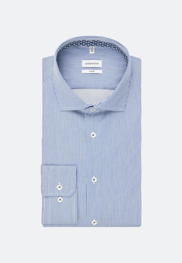 Bügelleichtes Twill Business Hemd in X-Slim mit Kentkragen in Mittelblau    Seidensticker Onlineshop