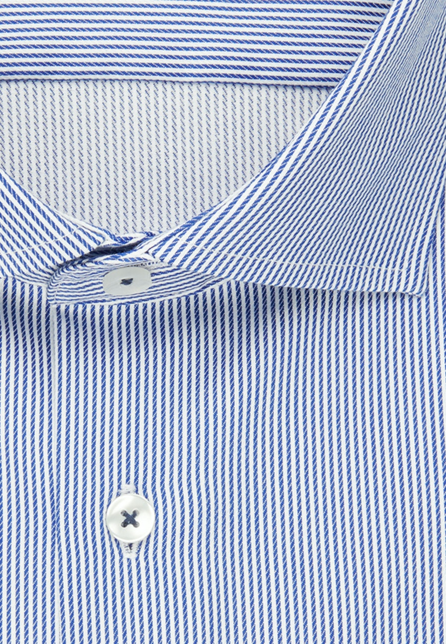Easy-iron Twill Business Shirt in Slim with Kent-Collar and extra long sleeve in Medium blue |  Seidensticker Onlineshop
