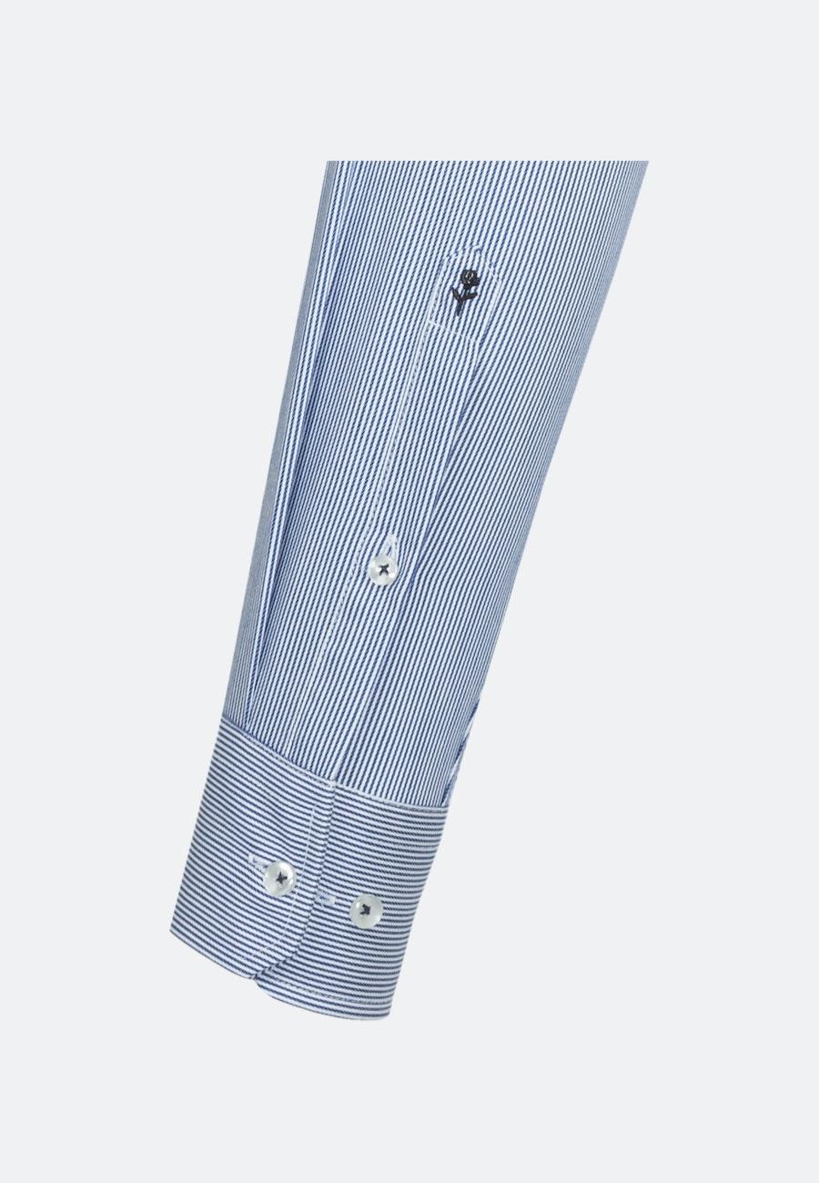 Bügelleichtes Twill Business Hemd in Slim mit Kentkragen und extra langem Arm in Mittelblau    Seidensticker Onlineshop