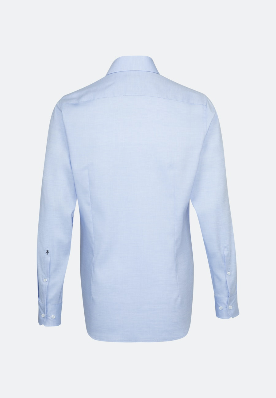 Non-iron Struktur Business Shirt in Shaped with Kent-Collar and extra long sleeve in Light blue |  Seidensticker Onlineshop