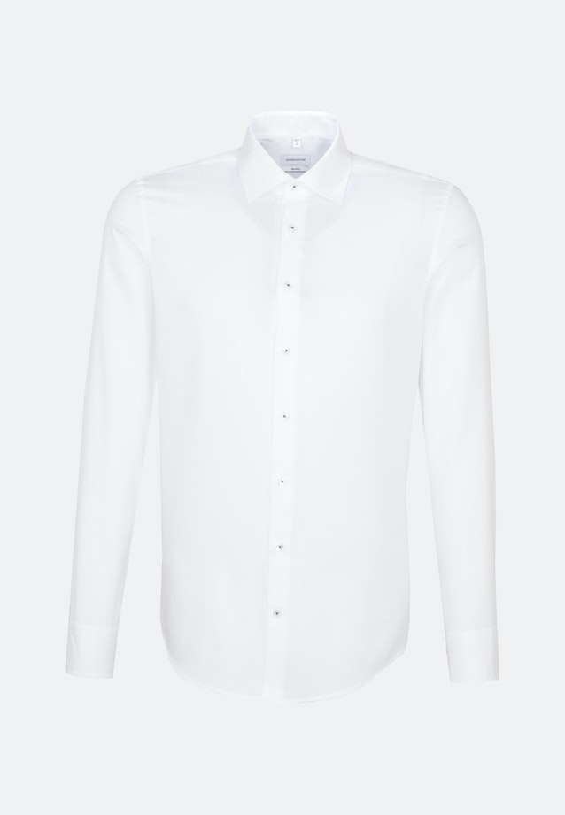 Non-iron Struktur Business Shirt in Shaped with Kent-Collar and extra long sleeve in White |  Seidensticker Onlineshop