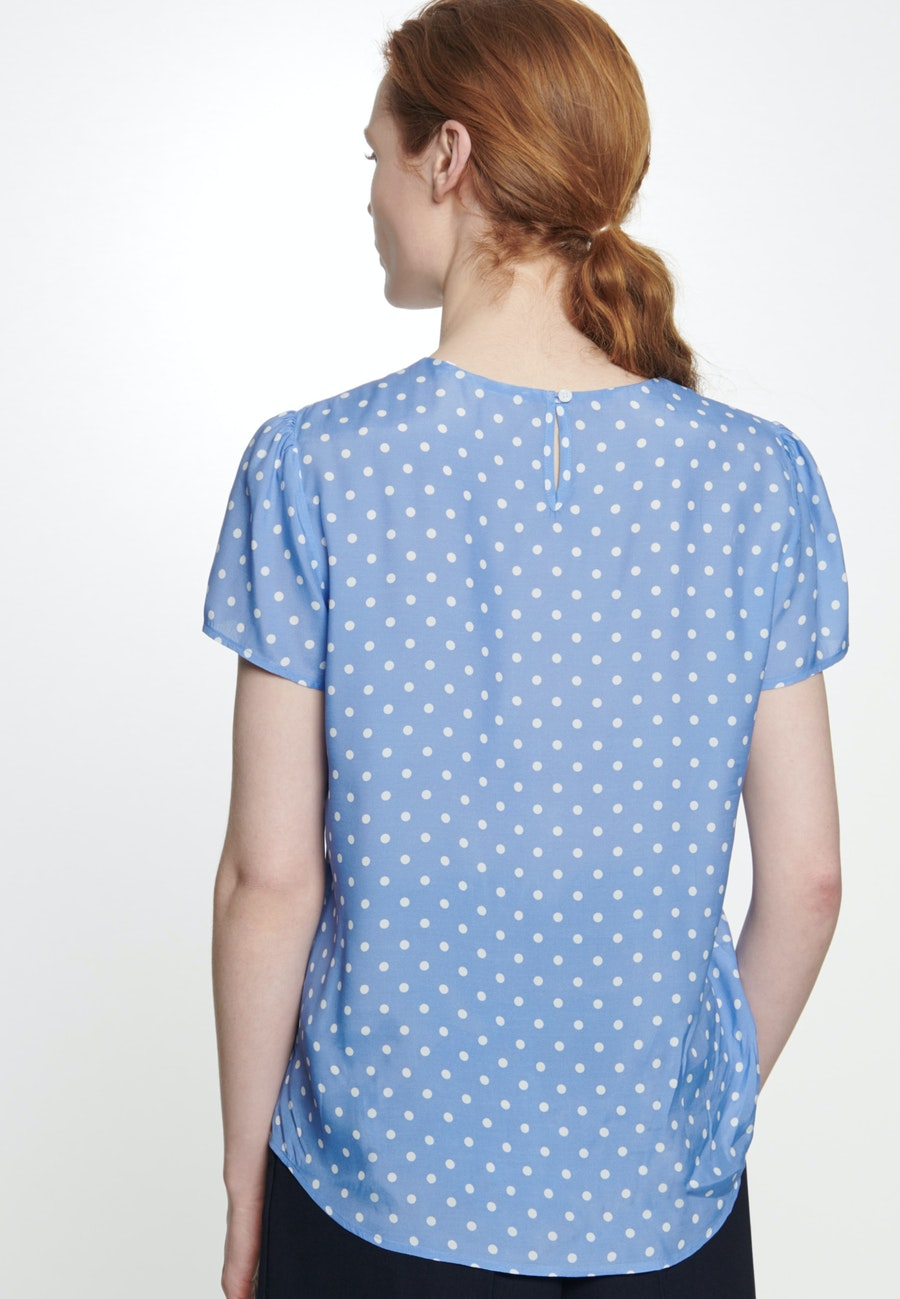 Short sleeve Voile Shirt Blouse made of 100% Viscose in Medium blue |  Seidensticker Onlineshop